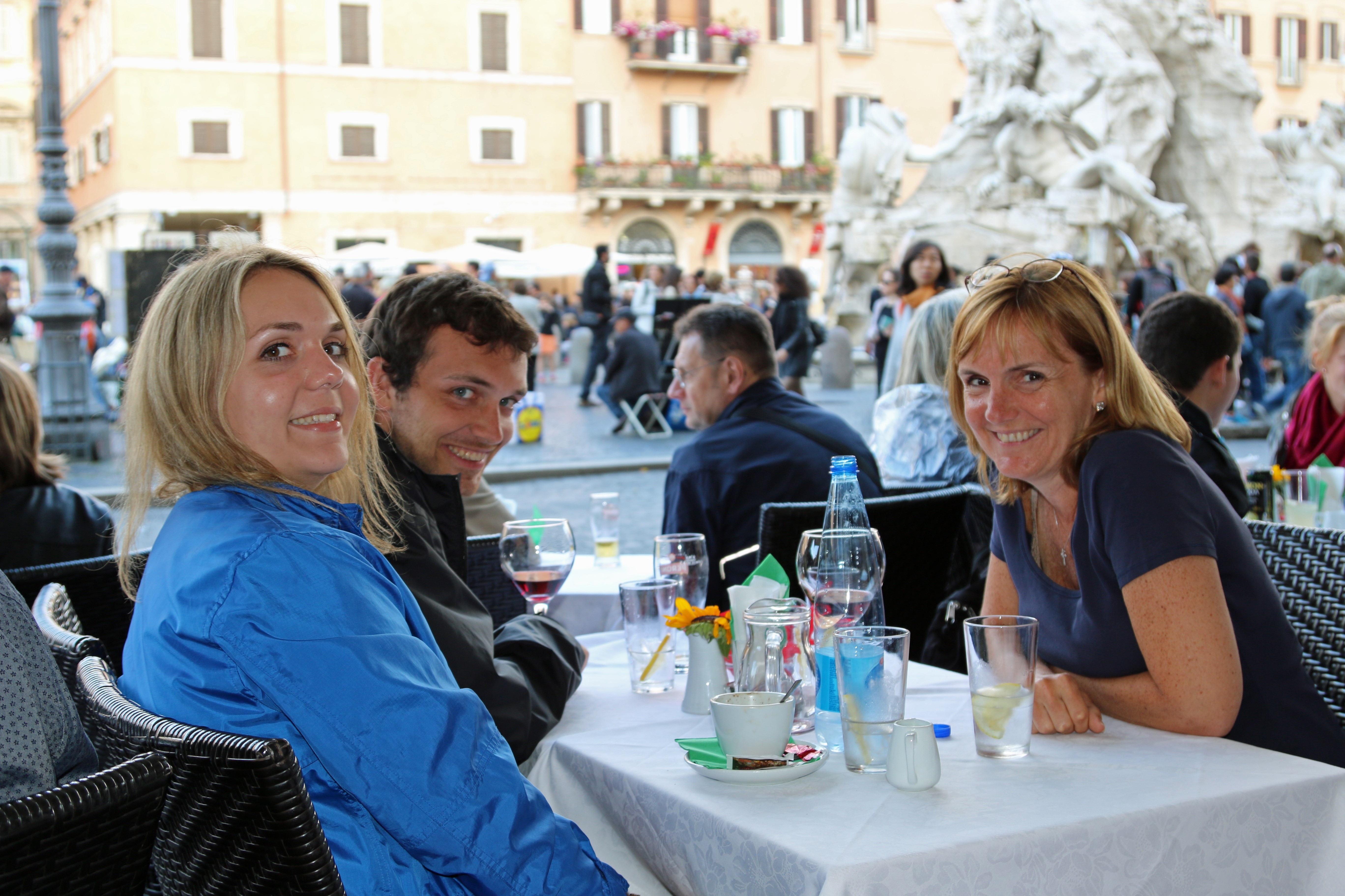Rome lunch piazza navona
